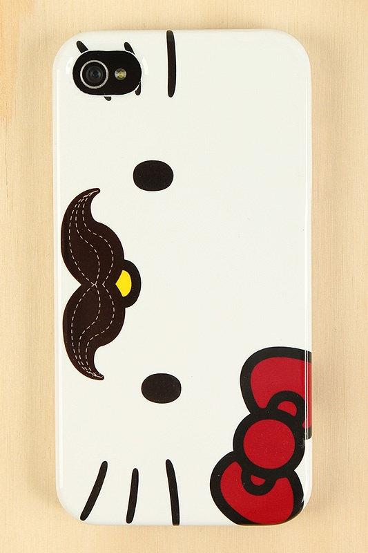 Hello Kitty Mustache iPhone 4s Case