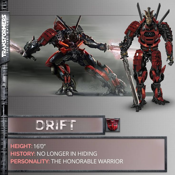 Transformers News: Transformers: The Last Knight Drift Revealed