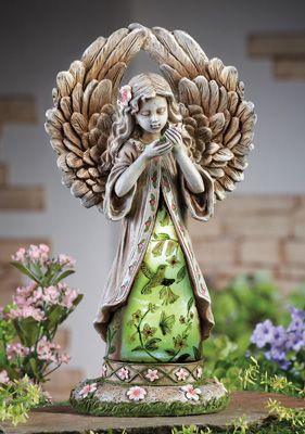 #27227 Solar Hummingbird Angel Garden Statue by sensationaltreasures