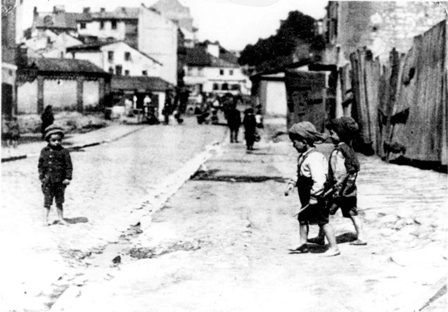 World War II Lublin, Poland - Children on the streets of the ghetto. None of the children survived.