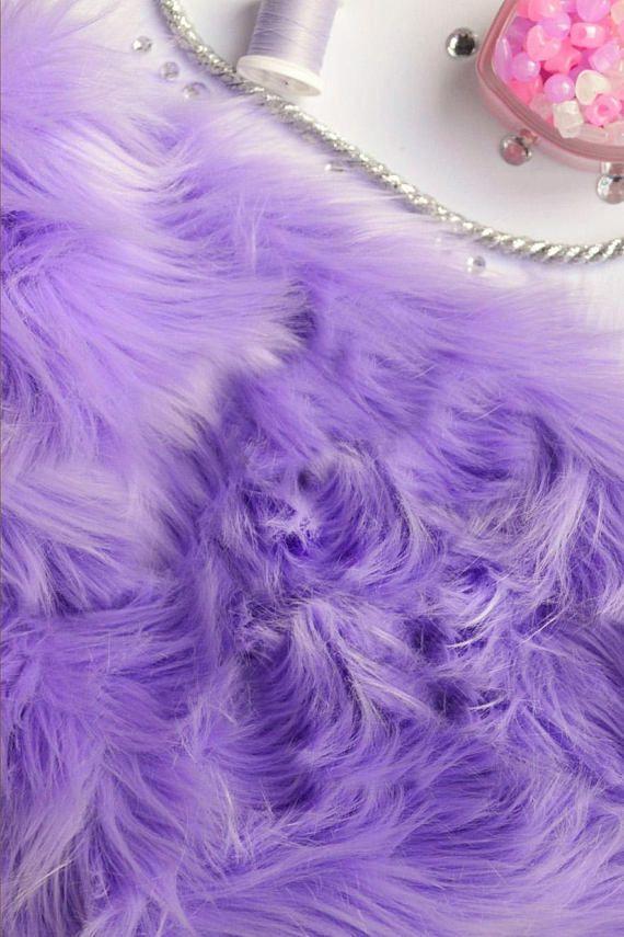 Lavender Fur Fabric Craft Squares Lavender Faux Fur Fabric