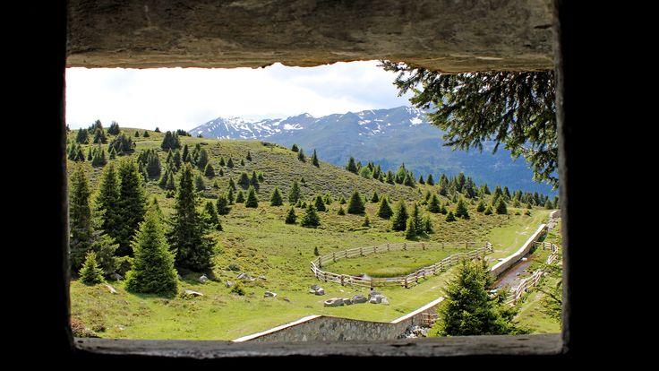 Sommerlandschaft in den Bergen rund um Nauders am Reschenpass