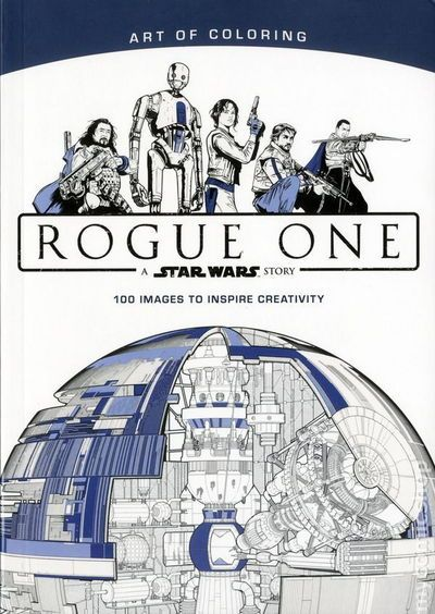 A coloring book for young adults and adults that includes scenes and characters from Rogue One: A Star Wars Story. #art #book #starwars