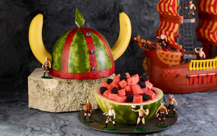 viking watermelon   Amazing Watermelon Carvings (and How To Make Them)