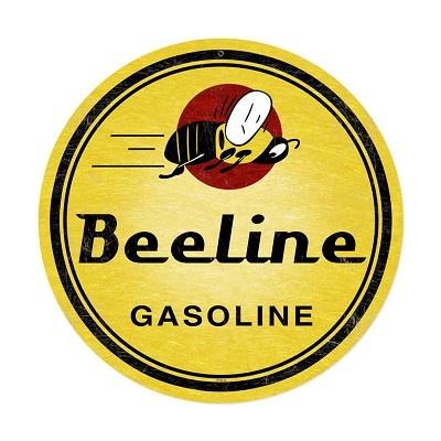 Bee Line Gasoline Vintage Metal Sign
