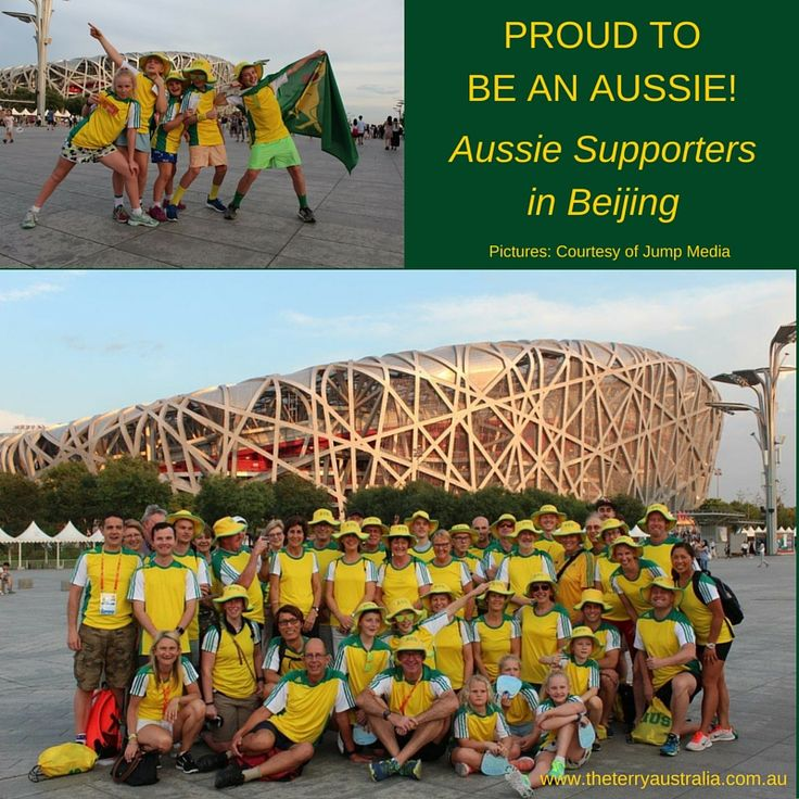 There is nothing like an Aussie Support Crowd in Terry Towelling Hats!
