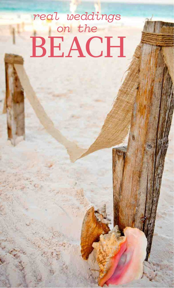 Real Weddings on the Beach | Martha Stewart Weddings - A beachside wedding has so much to offer: fun in the sun for both you and your guests and a magical backdrop. To add to the ambiance, we've pulled together some of our favorite beach-themed wedding ideas.