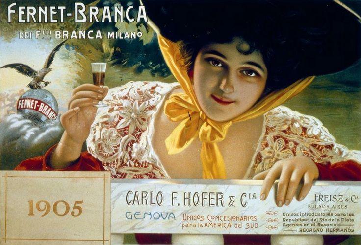 Vintage Italian Posters ~ #Italian #vintage #posters ~  Fernet Branca 1905