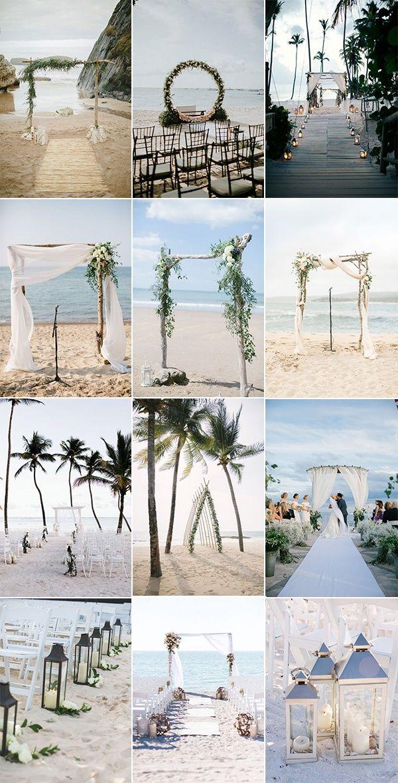 20 Breathtaking Beach Wedding Ceremony Ideas for 2019