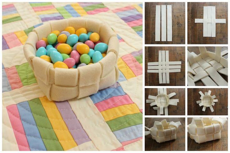 Get Crafty with Our Easter Woven Felt Basket - thegoodstuff