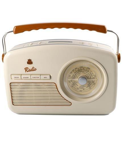 Brand: GPO Retro Key Points: GPO Retro 'Rydell' vintage style DAB Radio with carry handle. Alarm cl