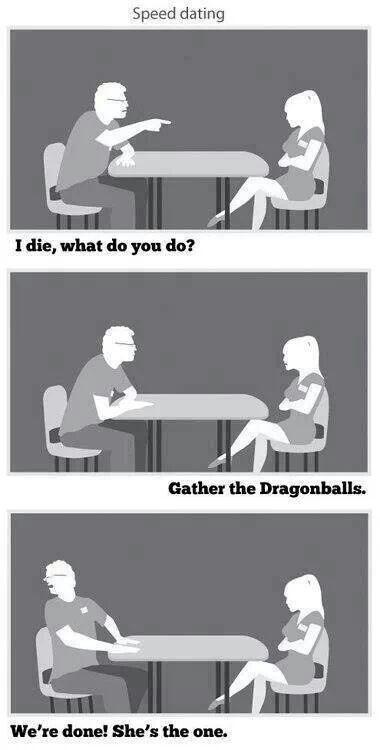 Speed dating dragonball z