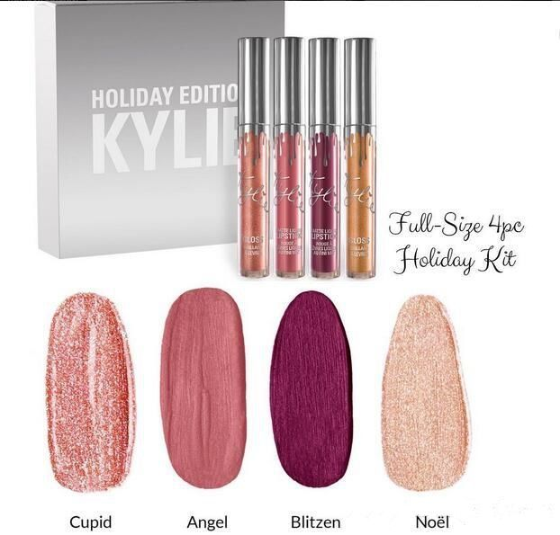 Kylie Cosmetics HOLIDAY COLLECTION 4 Pcs FULL - SIZE Kit Matte Liquid Lipstick   #Unbranded