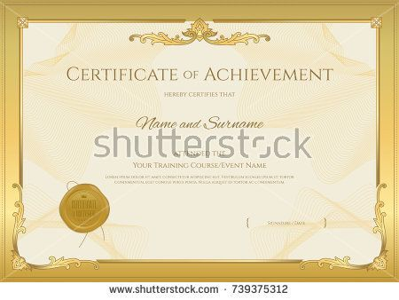 125 best Certificate template images on Pinterest Certificate - certificate of completion of training template