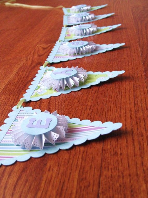 Easter Decorative Paper Banner by thepaperpicasso on Etsy, $10.00