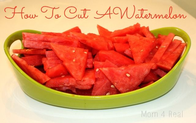 How To Cut A Watermelon Into Triangles