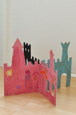 Castle from #cardboard box