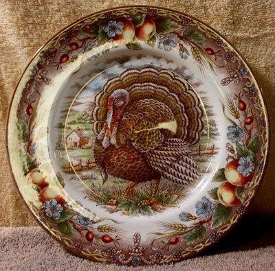 Thanksgiving Dinnerware Patterns | Design: China Patterns / ROYAL STAFFORD china TURKEY - BROWN ...