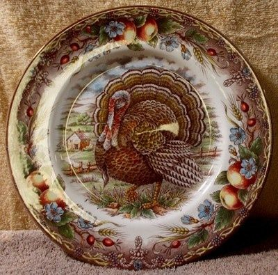 Thanksgiving Dinnerware Patterns | Design: China Patterns / ROYAL STAFFORD china TURKEY - BROWN ...