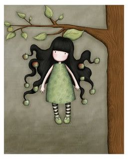 Petite fille au pommier