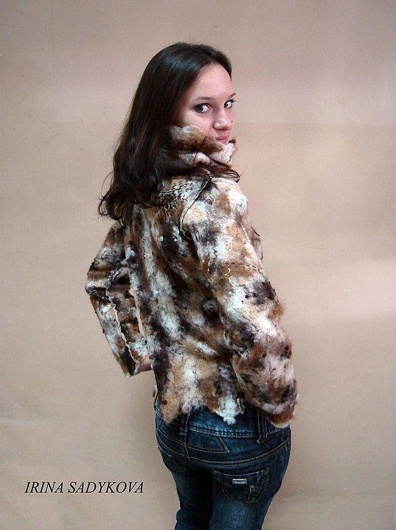 """Купить Свитер валяный """"Швейцарские Альпы"""" - войлок, свитер, альпака, женский, авторская работа"""