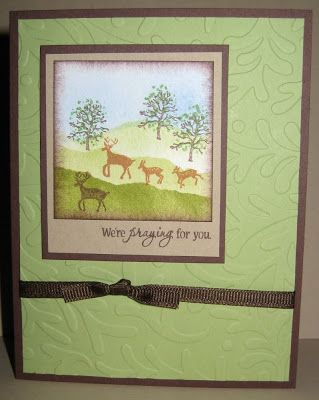 A card made from our Deer Forest Peg Stamp Set.