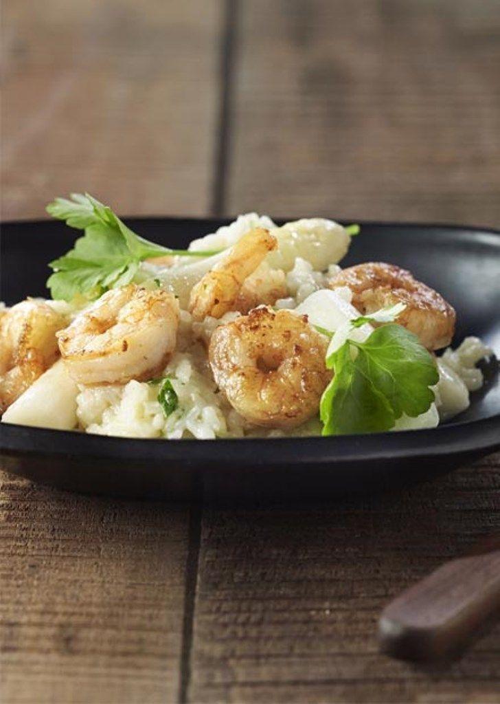"""Het lekkerste recept voor """"Risotto met asperges, scampi en Tongerlo Blond"""" vind je bij njam! Ontdek nu meer dan duizenden smakelijke njam!-recepten voor alledaags kookplezier!"""