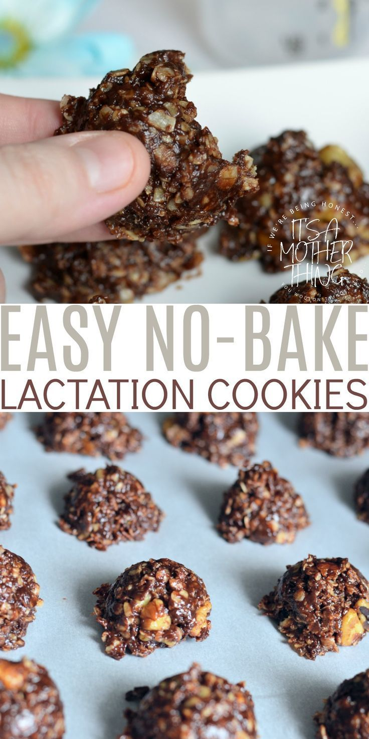 Easy No Bake Lactation Cookies. Perfect for Nursing Moms. #breastfeeding #lactat…