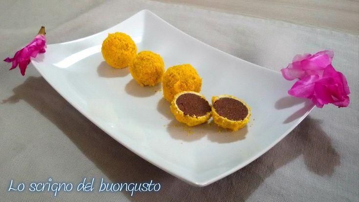 TARTUFI MIMOSA  https://loscrignodelbuongusto.altervista.org/tartufi-mimosa/  #mimosa #festadelladonna #8Marzo2018 #8Marzo #tartufi #ricettedolci  #ricette #Food #solocosebuone #festadonna