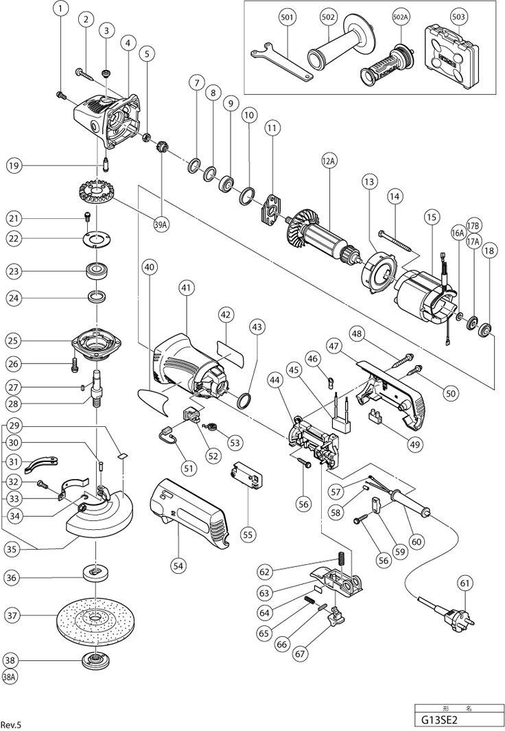 G13SE2YH - Meuleuses d'angle 125mm - Meuleuses - Outillage électriques & Pneumatiques - Machines - Hitachi Power Tools Belgium