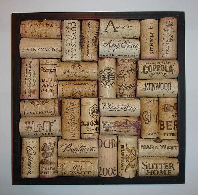 Wine Cork Trivet, made from a square picture frame.