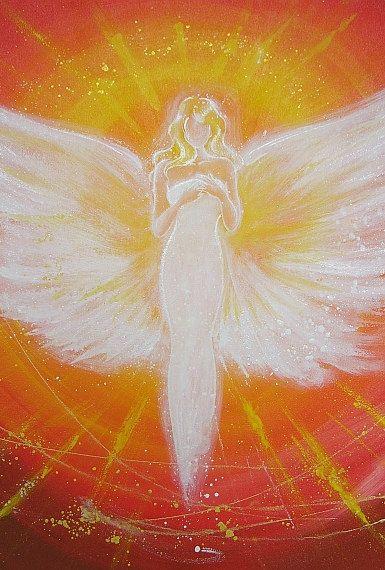Limited angel art photo digital print abstract von HenriettesART