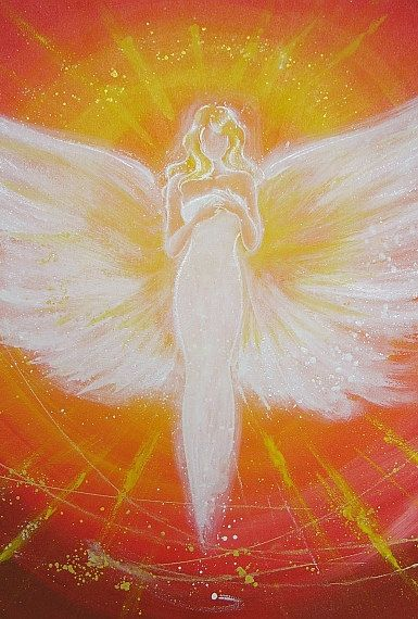 Limited angel art photo digital print abstract por HenriettesART