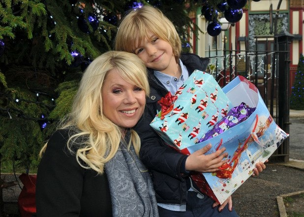 EastEnders Christmas 2012: Letitia Dean (Sharon and Denny Rickman) and Harry Hickles.