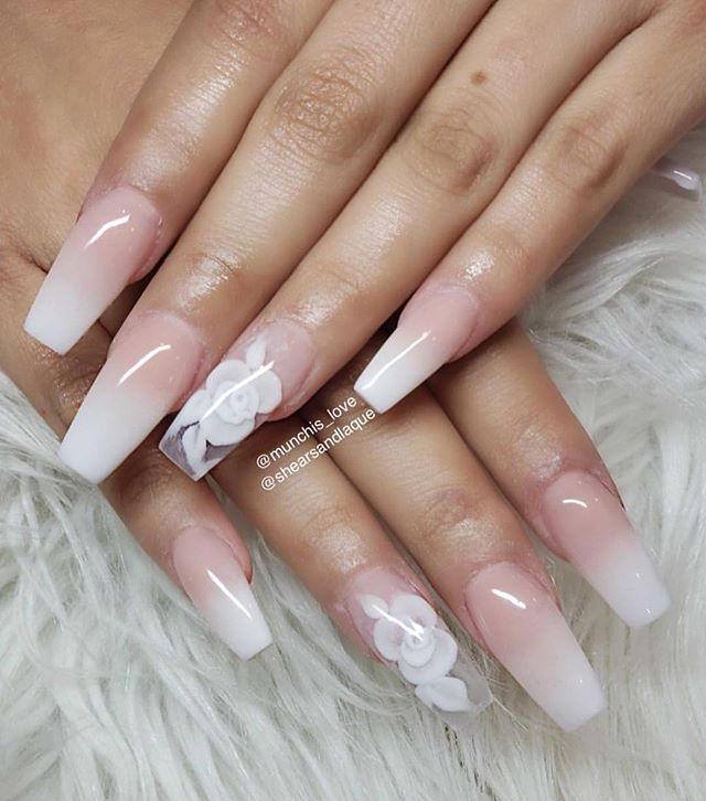 Ombre Pink Nails Pink Tip Nails Elegant Nails Ombre Nail Designs