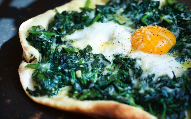 Spinach,Soft Egg and Parmesan Pizzetta (from Russel Norman's cookbook, Polpo, via Food Republic)