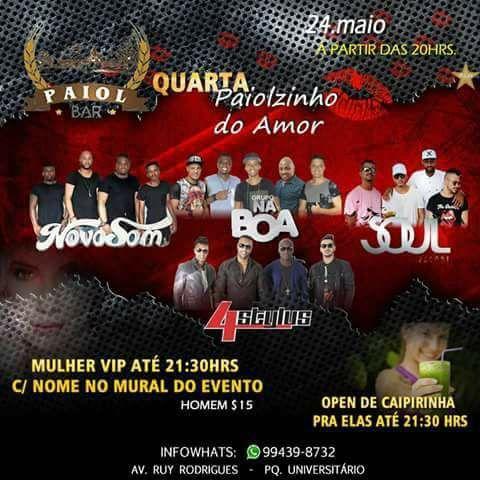 Agitos em Campinas: Balada Paiolzinho Do Amor - NovoSom/NaBoa/SoulPagode - OPEN PRA ELAS & VIP no Paiol bar campinas do AgitoBr