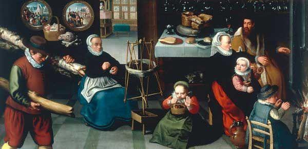 Jean-Baptiste de Saïve - Die Monate Januar und Februar - Kunstkopie