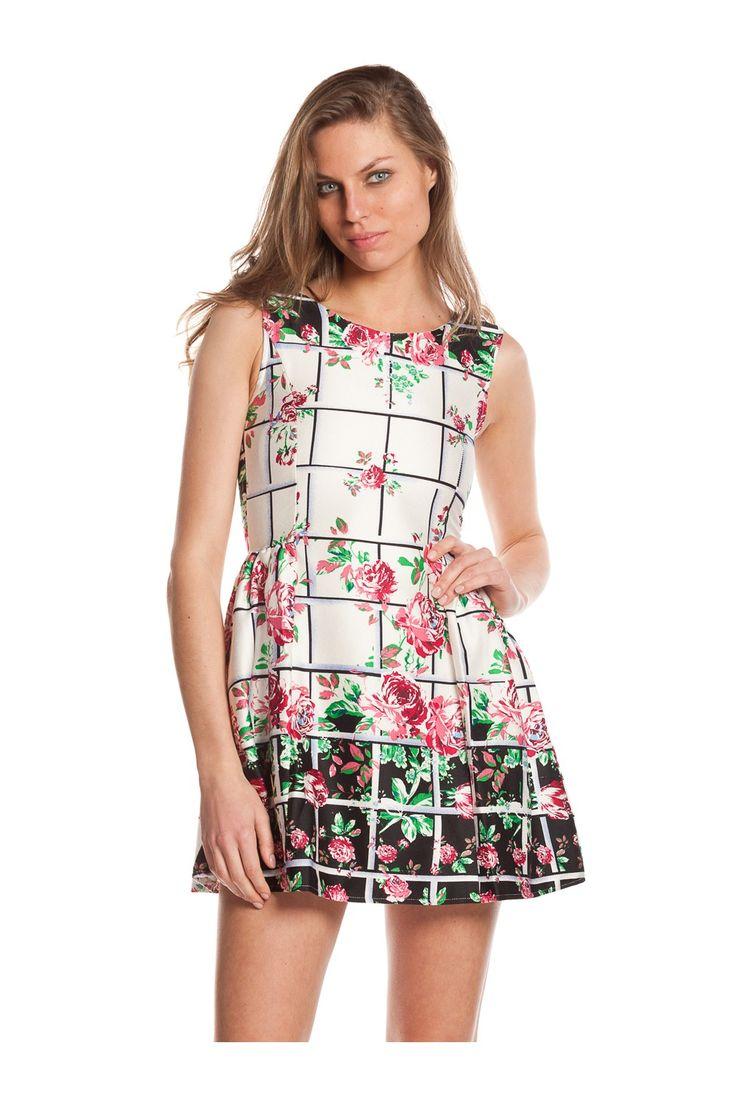 Vestido de estampado floral. - MUJER   Rosalita McGee #flores #vestidoflores #estampadofloral #flowers #modaprimavera #springstyle #dress