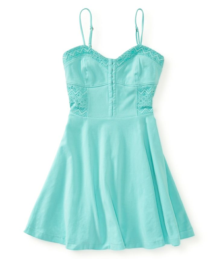 Solid Fit & Flare Dress - Aeropostale