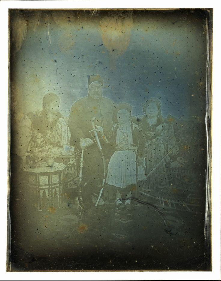Joseph Prangey - Old Cairo. Soliman Pasha and his children, 1842-44