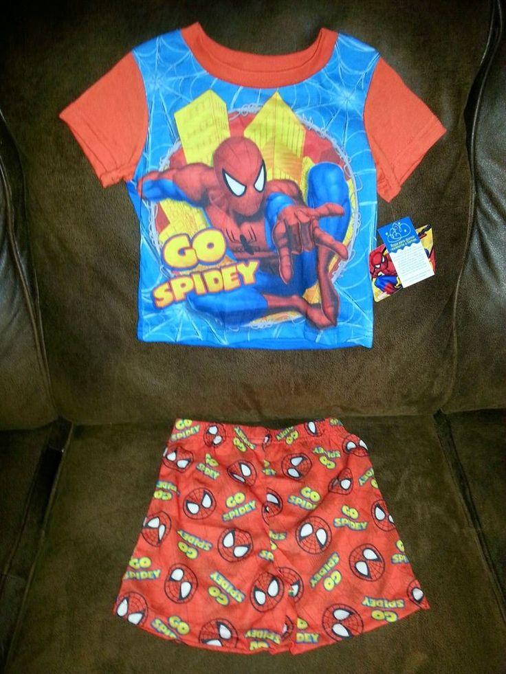 Marvel Spidey 2 PC Multi-color All Season Pajamas Boys 3T NWT #Marvel #TwoPiece
