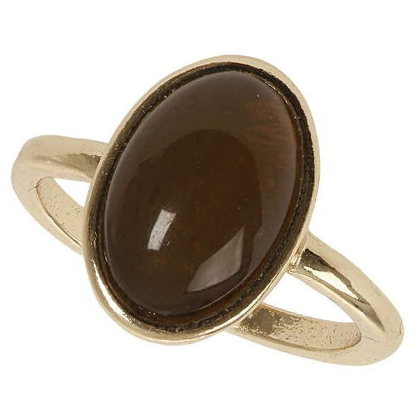 Dorothy Perkins Khaki Stone Ring ($69) ❤ liked on Polyvore featuring jewelry, rings, orange, oval stone ring, stone rings, dorothy perkins, orange jewelry and stone jewelry