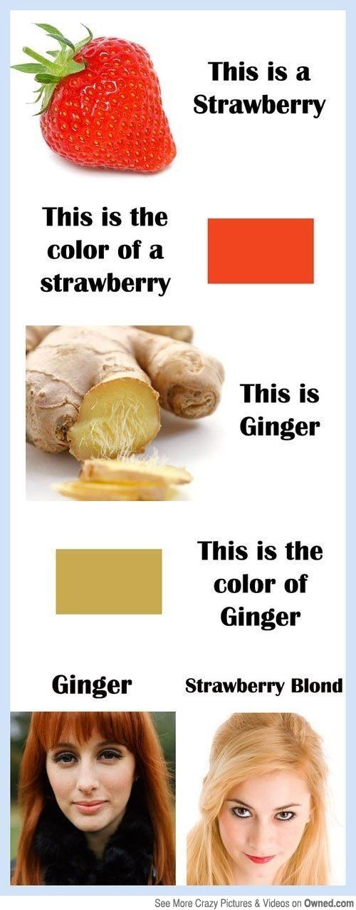 WHY DIDN'T THEY MAKE GINGER HAIR THAT SAME COLOUR?