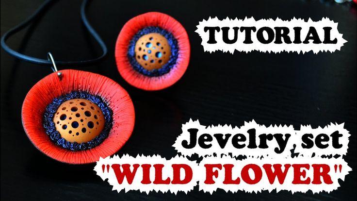 """DIY ✿ Jewellery set """"Wild flower"""" ✿ Мастер-класс ✿ Комплект украшений """"Д..."""