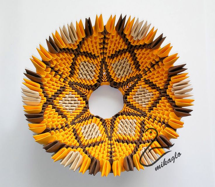 3d origami vase instructions