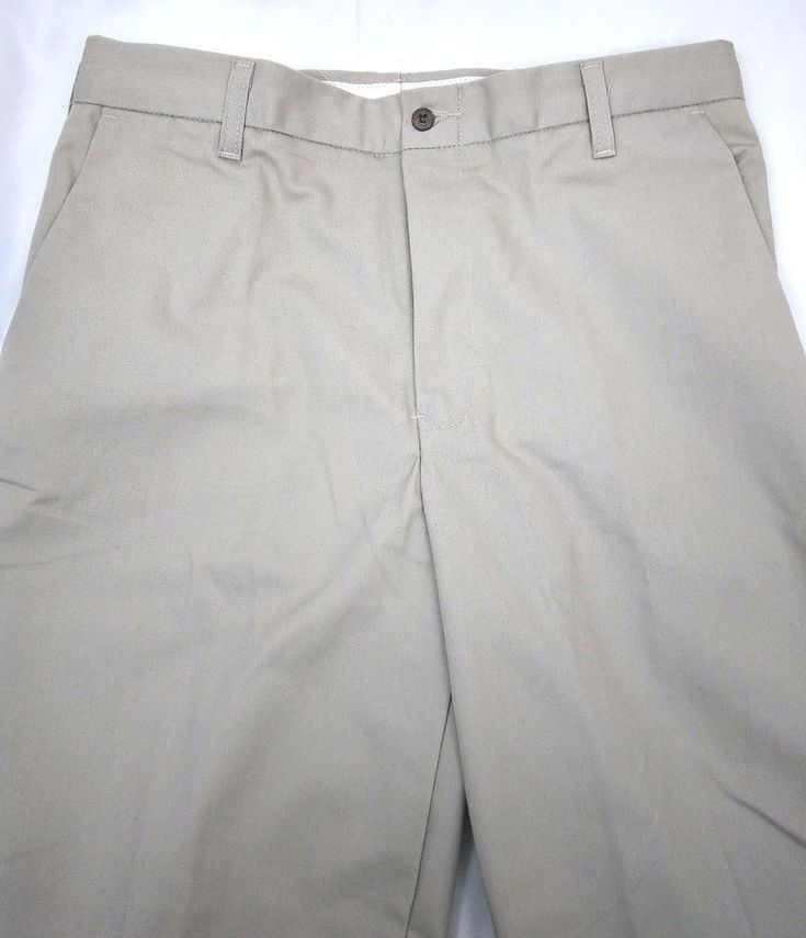Cintas Mens Work Pants Comfort Flex Khaki Beige 32 X 33 3 Pair Total             #Cintas #Pants