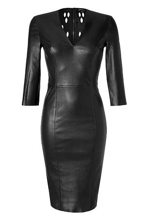 STYLEBOP.com   BlackStretchLeatherDressbyJITROIS   the latest trends from the capitals of the world