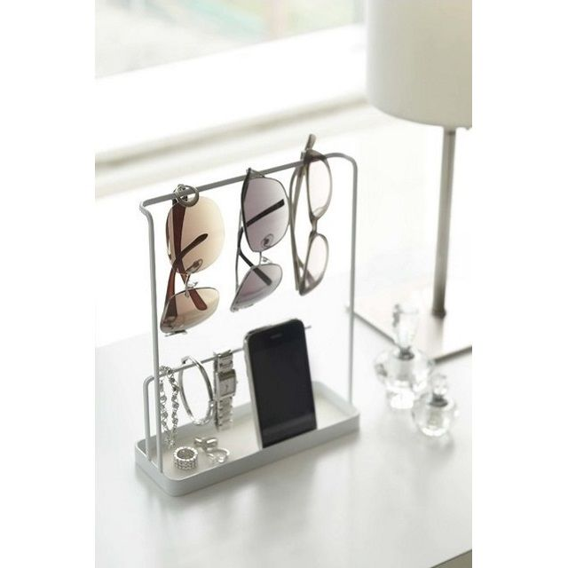 Yamazaki Tower Sunglasses and Accessories Organiser Stand, White