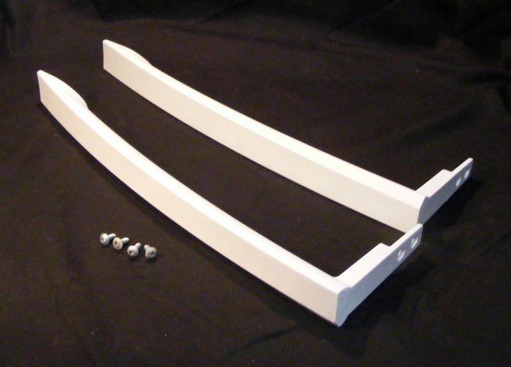 242110509 242110512 Frigidaire Refrigerator Freezer White Door Handle Set